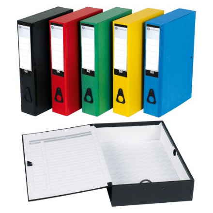 5 Star Office Box File Lock Spring with Push Button Closure 70mm Capacity Foolscap